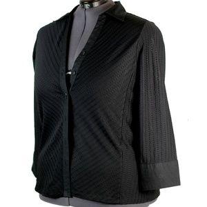 AVENUE STRETCH Plus Size 18/20 Blouse Top Black